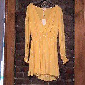 For Love & Lemons Chequita Long Sleeved Dress